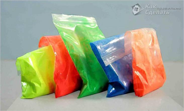Порошковые флуоресцентные краски