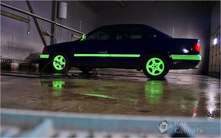 Светящаяся краска на автомобиле