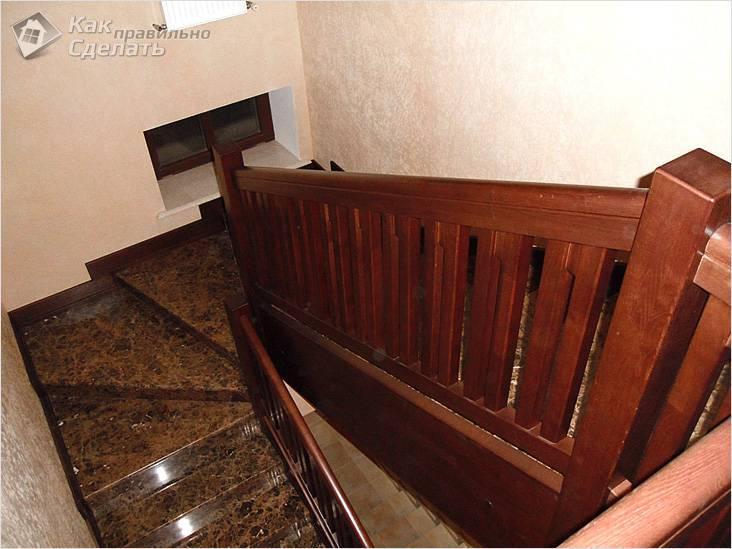 Облицовка лестницы