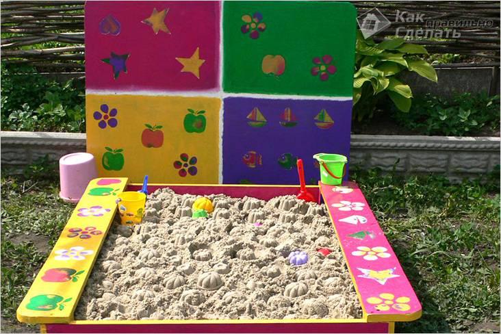 Как можно оформить детскую площадку своими руками