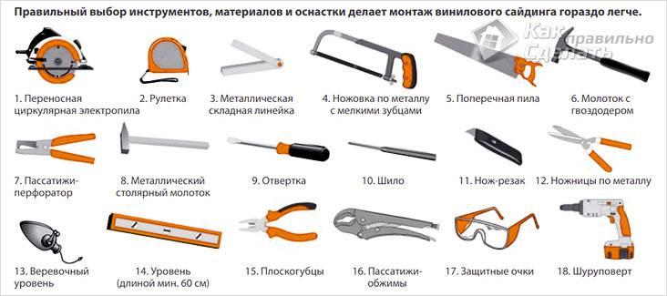 Инструменты для правильного монтажа