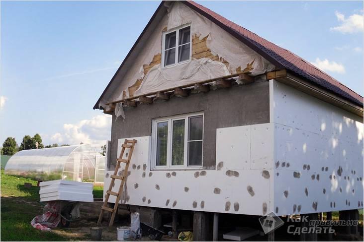 Как утеплять фасад дома