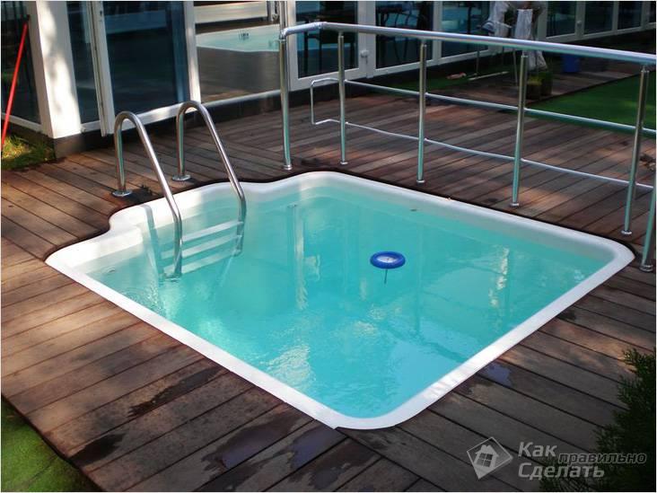 Готовая емкость для бассейна