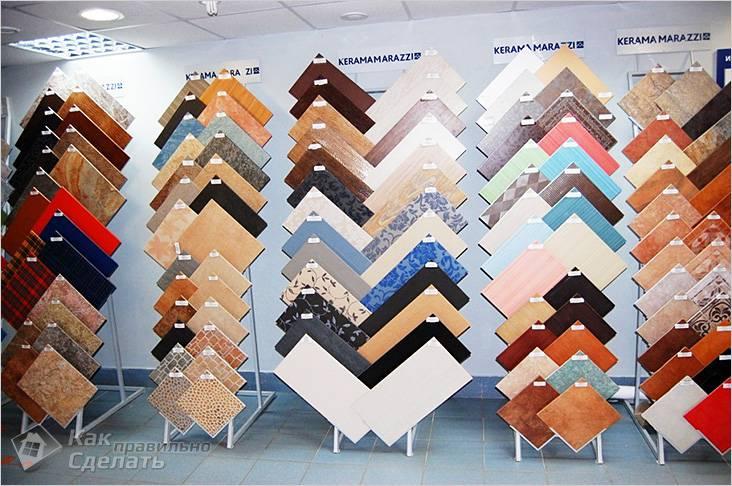 Разнообразие цветов и форм плитки