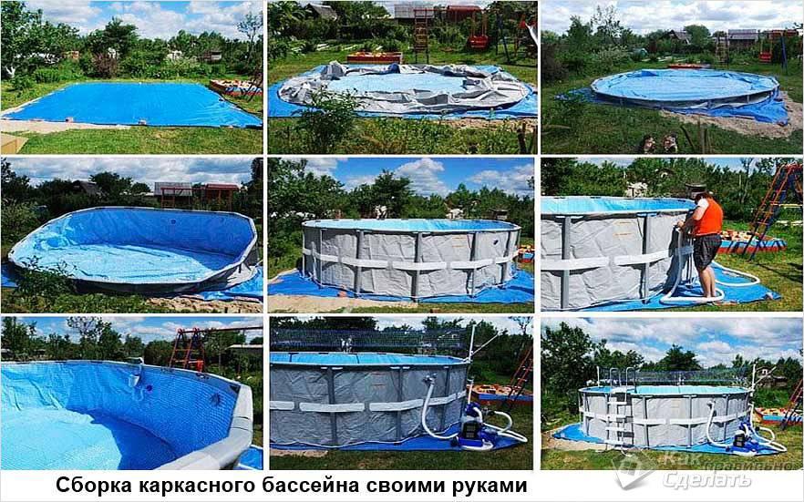 Сборка покупного каркасного бассейна