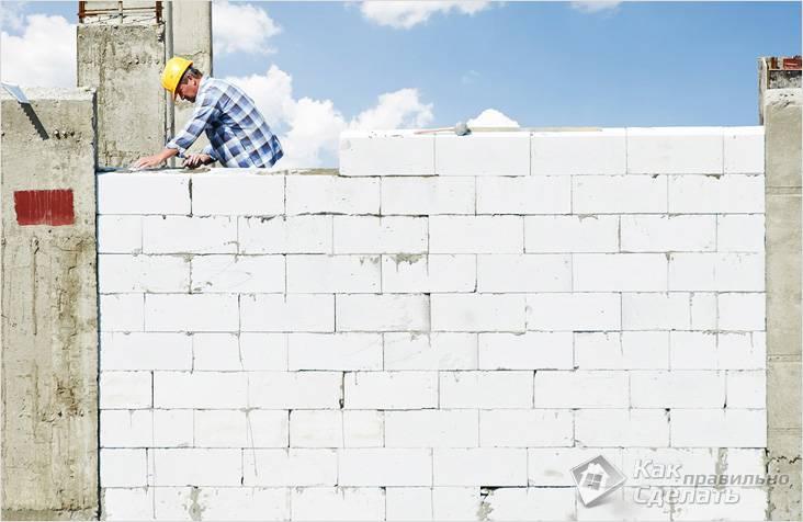 Стены возводятся быстро