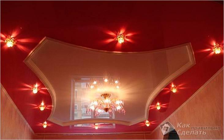 Двухуровневый криволинейный потолок
