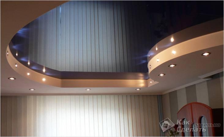 Короб с боковой точечной подсветкой