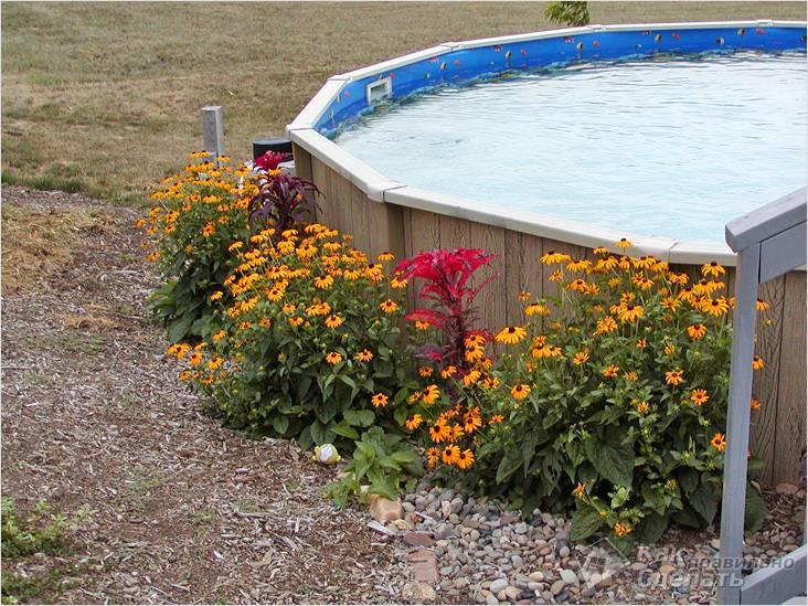 Полузаглубленный бассейн
