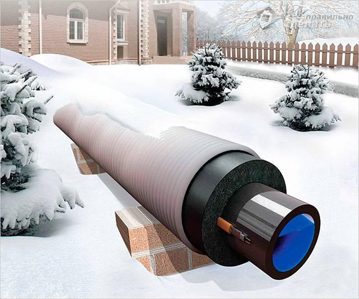 Утепление канализационной трубы на улице