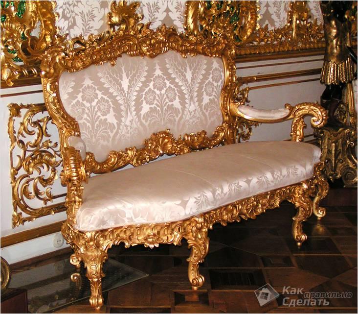 Золотая мебель фото