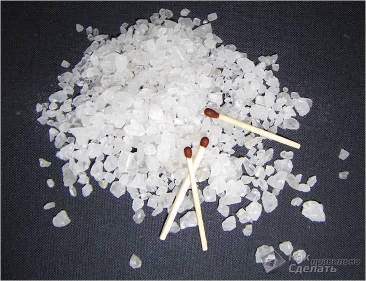 Добавление соли при топке