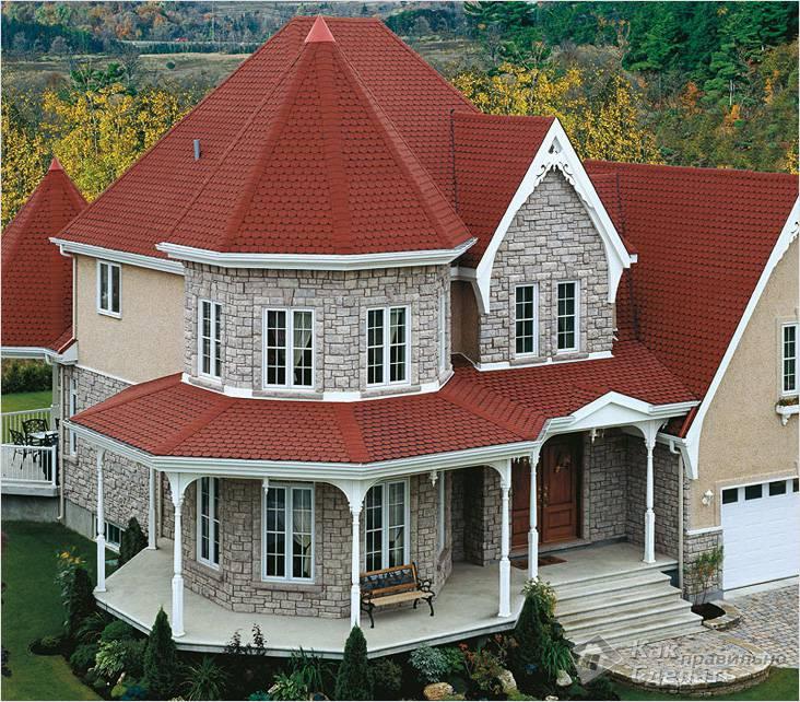 Домик с шатровой крышей
