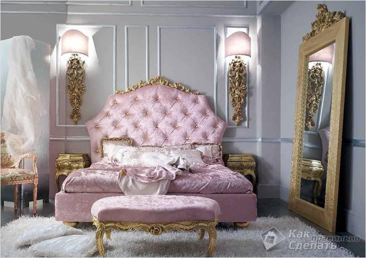 Изысканная спальня в стиле Барокко