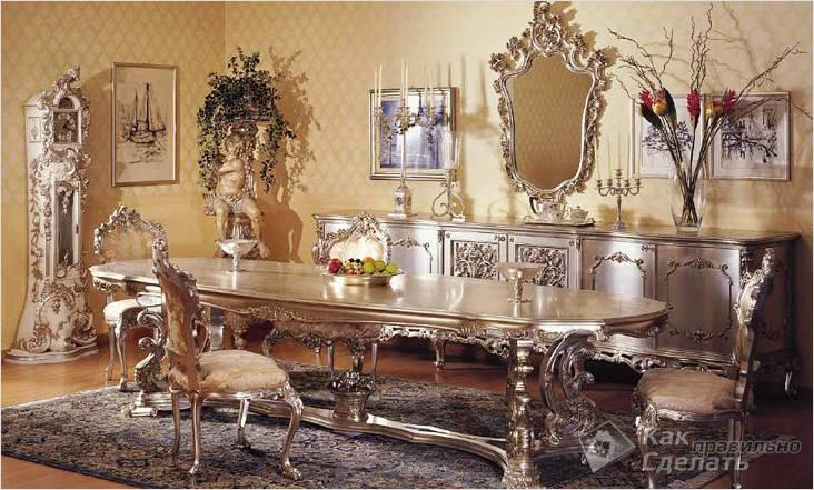 Мебель под золото