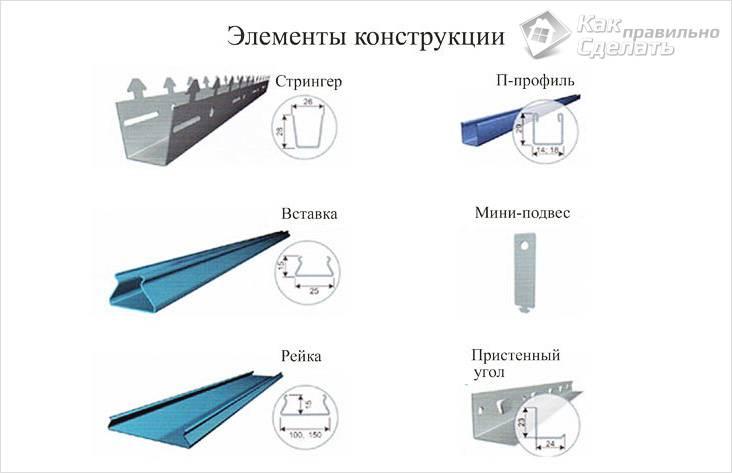 Монтаж реечных потолков своими руками