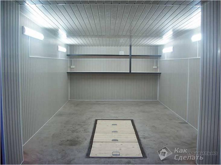Общее освещение в гараже