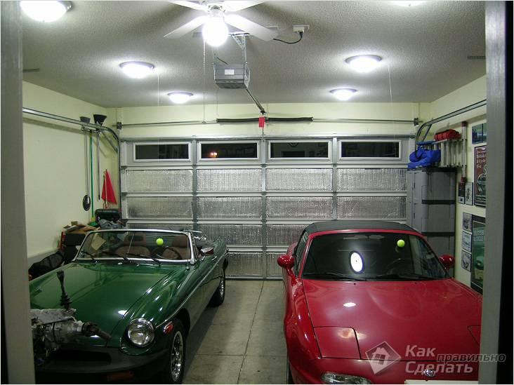 Обустройство гаража на две машины