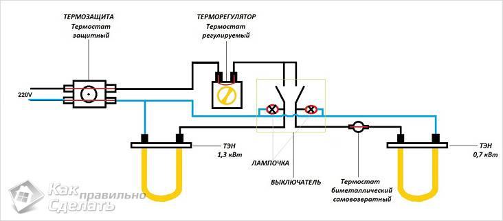 Принципиальная схема водонагревателя