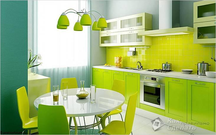 Однорядная планировка кухонной мебели