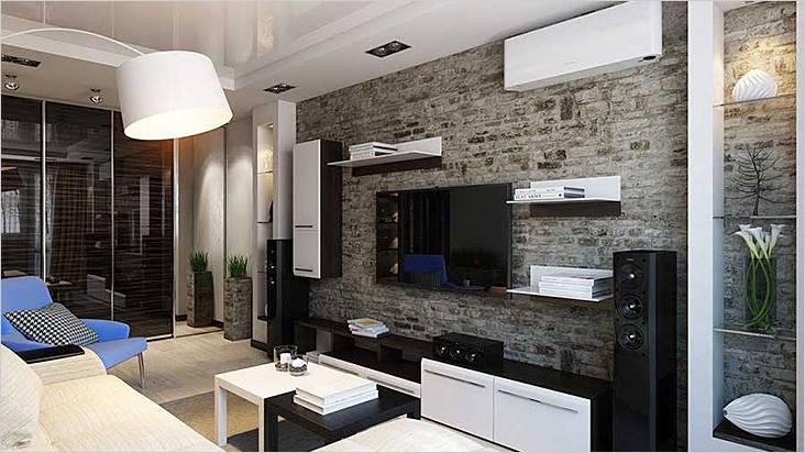 Дизайн гостиной 16 кв.м