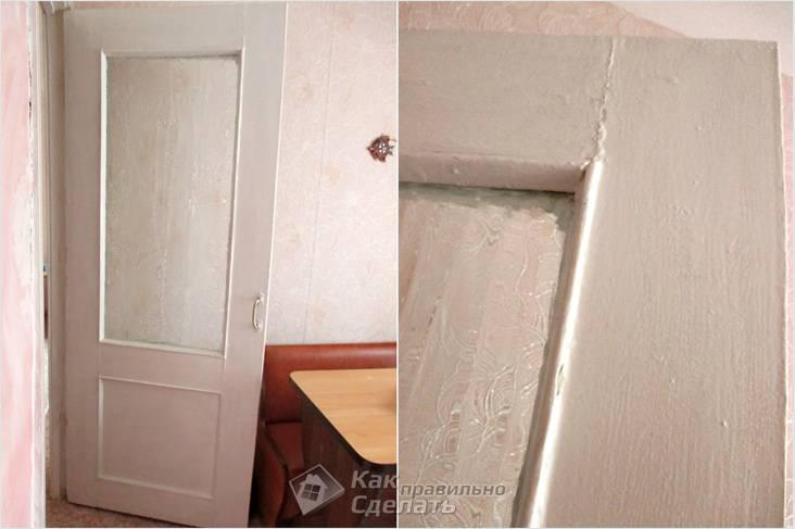 Дверь находилась в плачевном состоянии