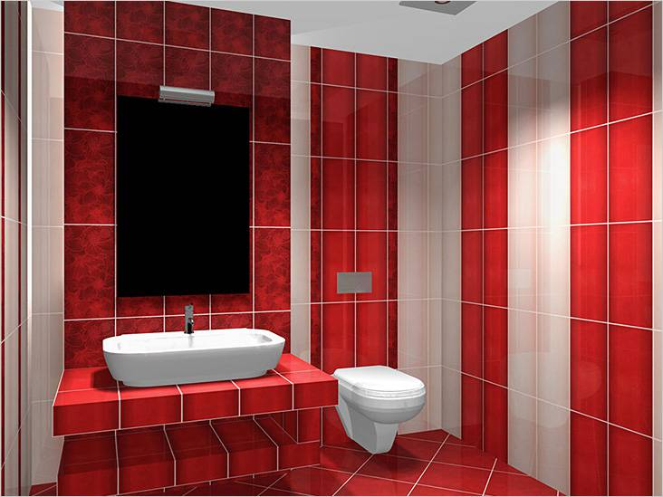 Для пола и стен подобрана фуга одного цвета