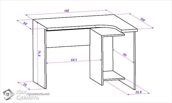 Схема маленького стола