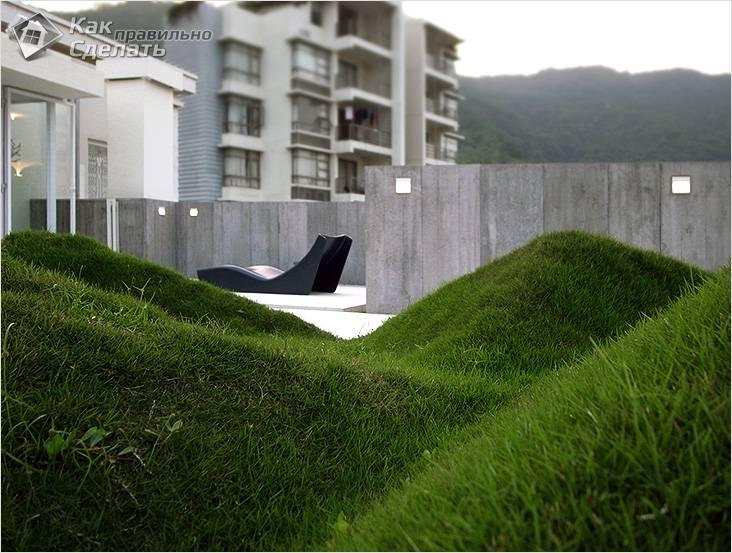 Геопластика в ландшафтном дизайне- что она из себя представляет