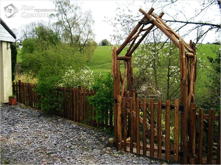 Креативная деревянная арка