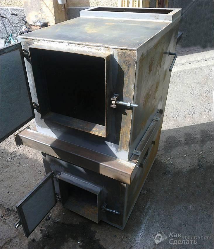 Самодельная металлическая печь