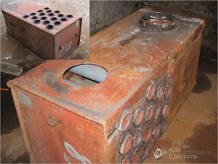 Переделка сейфа в печку