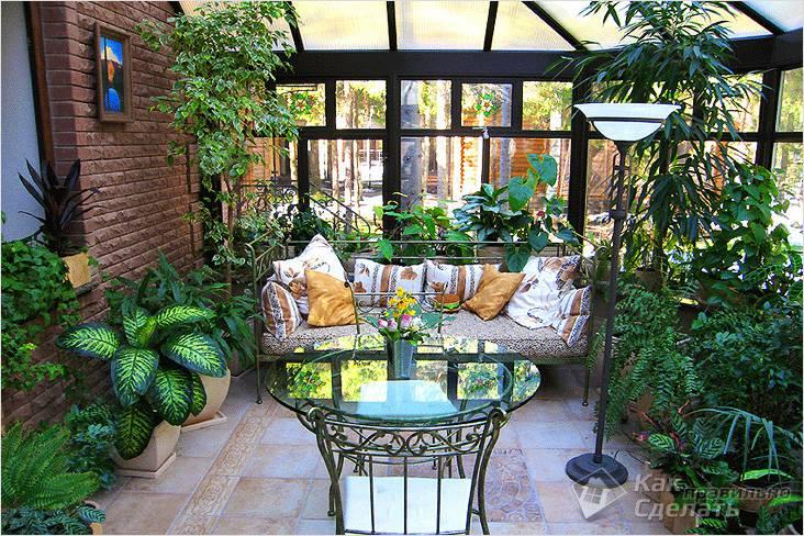 Зимний сад в частном доме и квартире рекомендации по созданию и содержанию