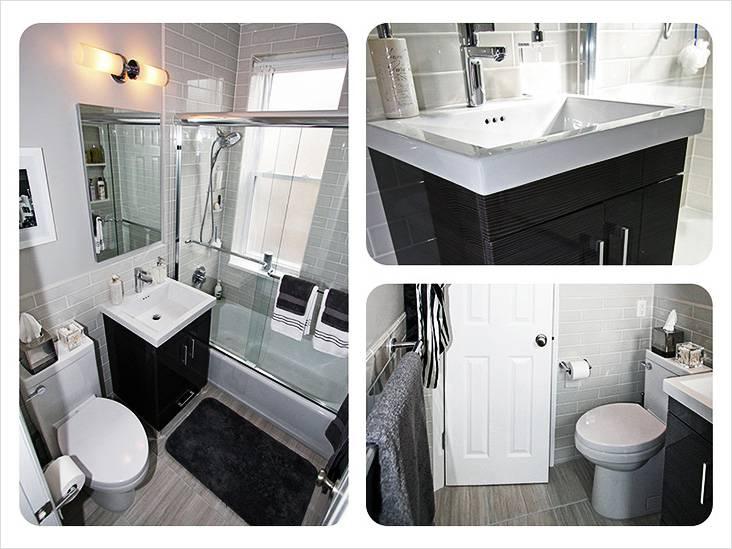 Бело-серая палитра в интерьере ванной