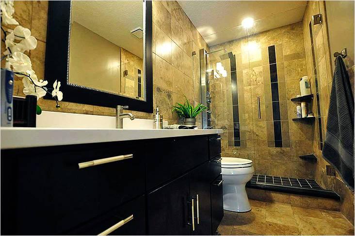 Черный и желтый цвет в интерьере современной ванной комнаты