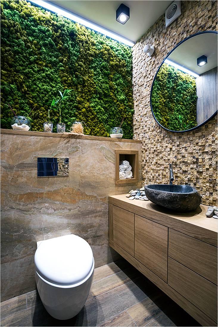Дизайн ванной комнаты с элементами японского стиля