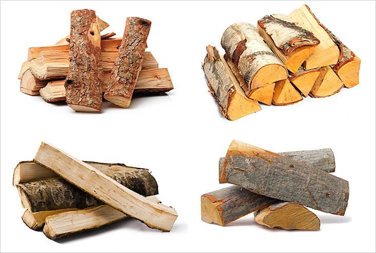 Дрова из разных сортов деревьев
