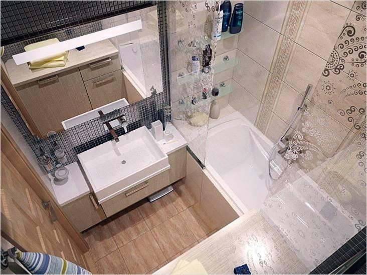 Маленькая ванная без туалета в современном стиле