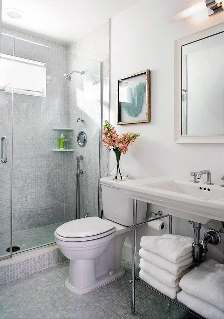 Маленькая ванная комната в стиле