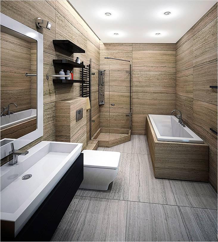 Минимализм в интерьере маленькой ванной