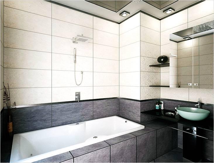 Минимум света, минимум аксессуаров, вот что значит минимализм в маленькой ванной