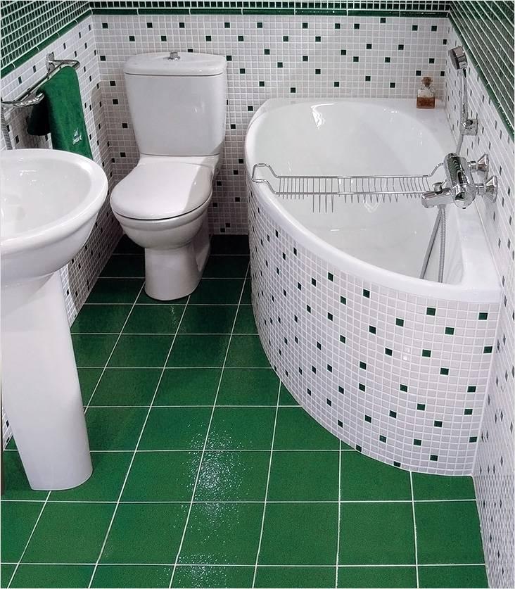Оригинальное сочетание белого и зеленого