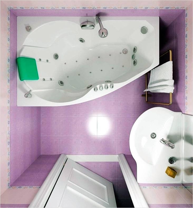 Планировка ванной комнаты без туалета