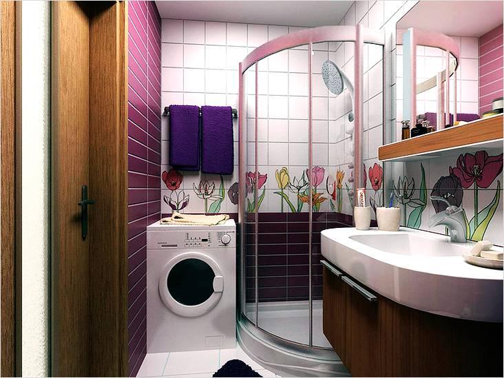 Сочная расцветка ванной в стиле модерн