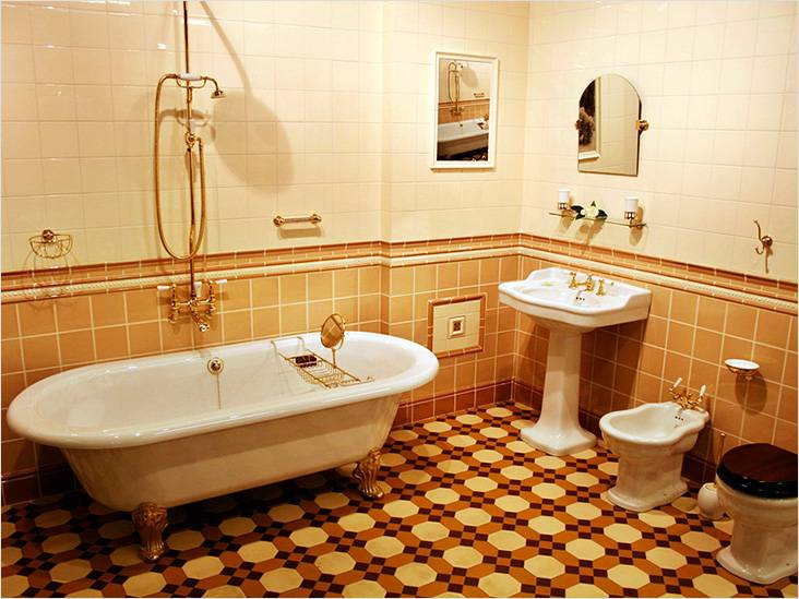 Ванная комната как в 50-х традиционное тетро