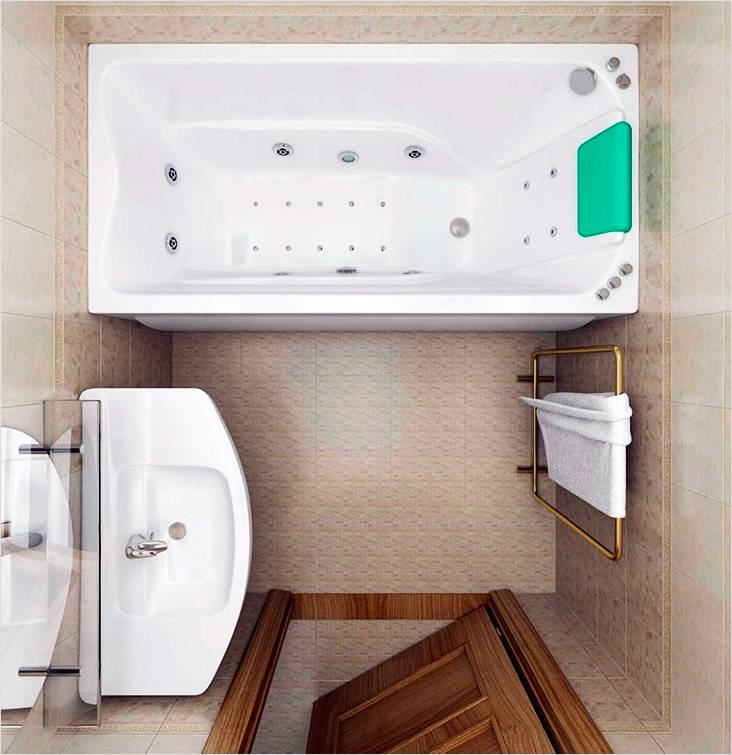 Ванная комната с роскошной раковиной и полотенцесушителем