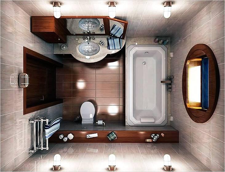 Ванная комната в классическом стиле вид сверху