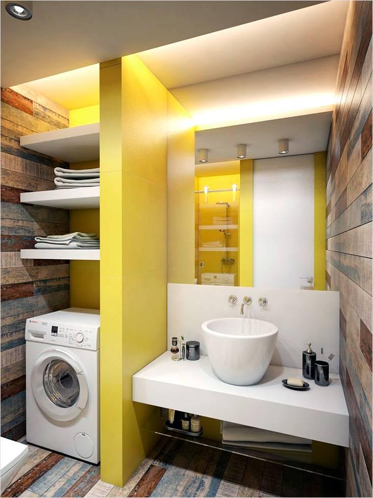 Ванная с нишами с элементами стиля лофт