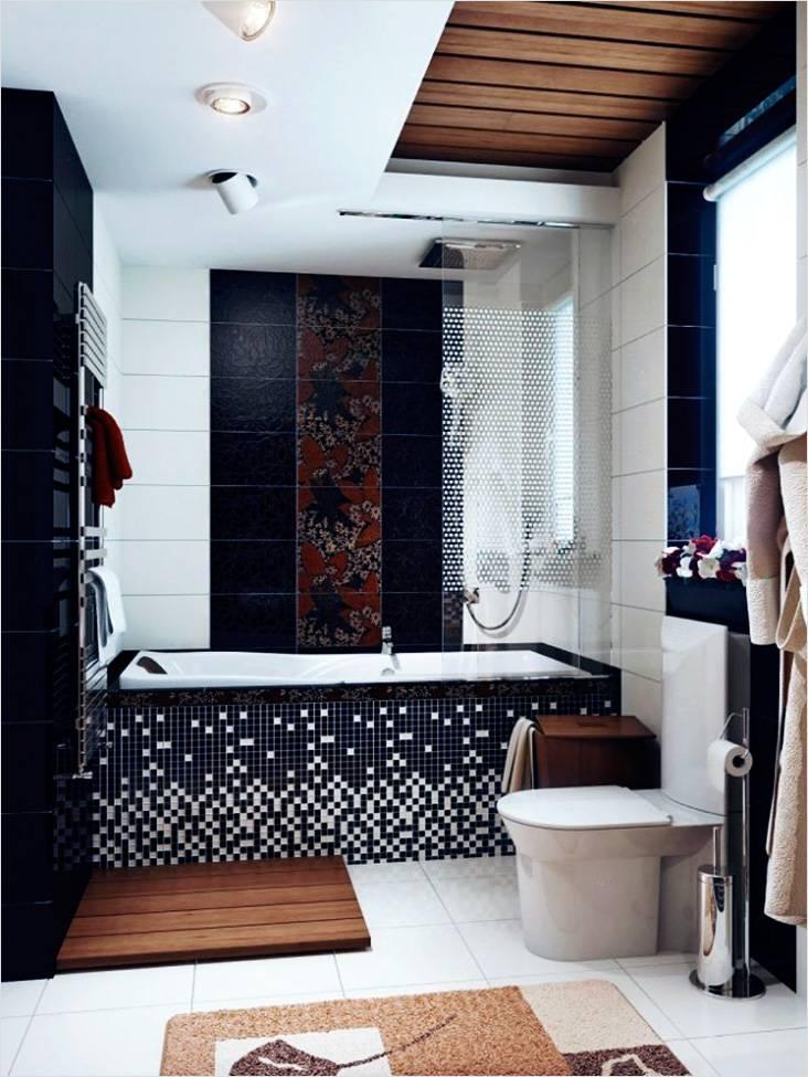 Японские мотивы в интерьере небольшой ванной