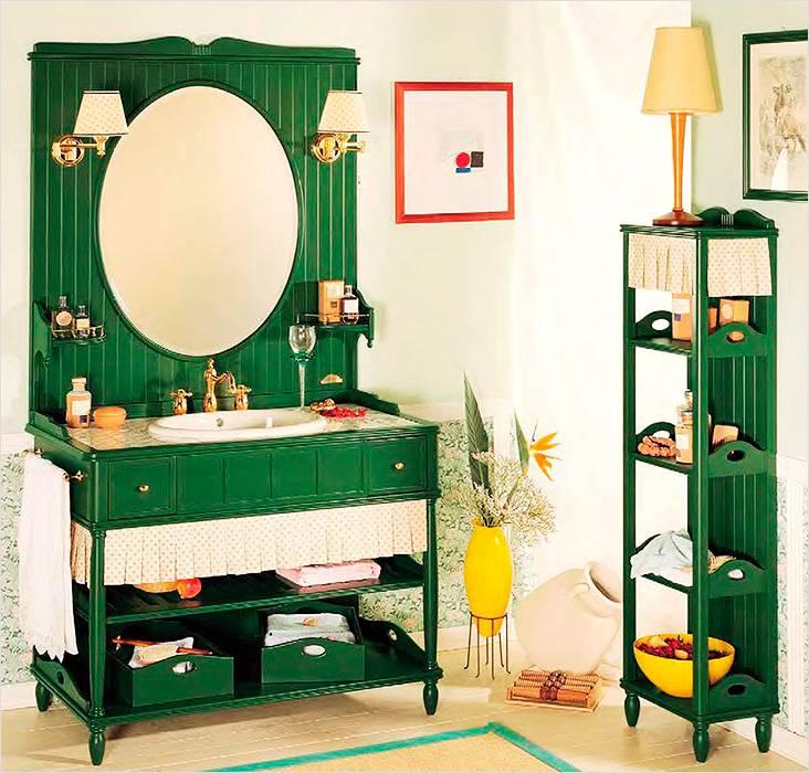 Зеленые элементы декора на фоне белых стен смотрятся очень привлекательно